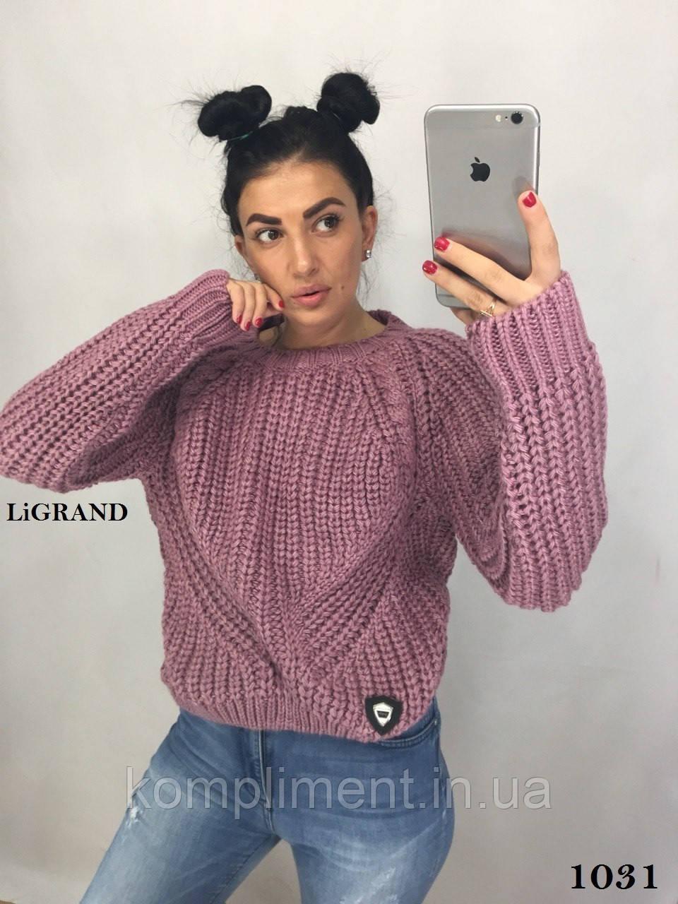 Женский  вязаный шерстяной свитер.Производство Турция.BG 1031