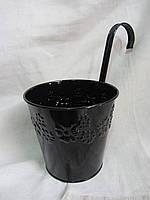 Ведро металлическое с ручкой (высота с ручкой-24,5 см), 75\55 (цена за 1 шт. + 20 грн.), фото 1