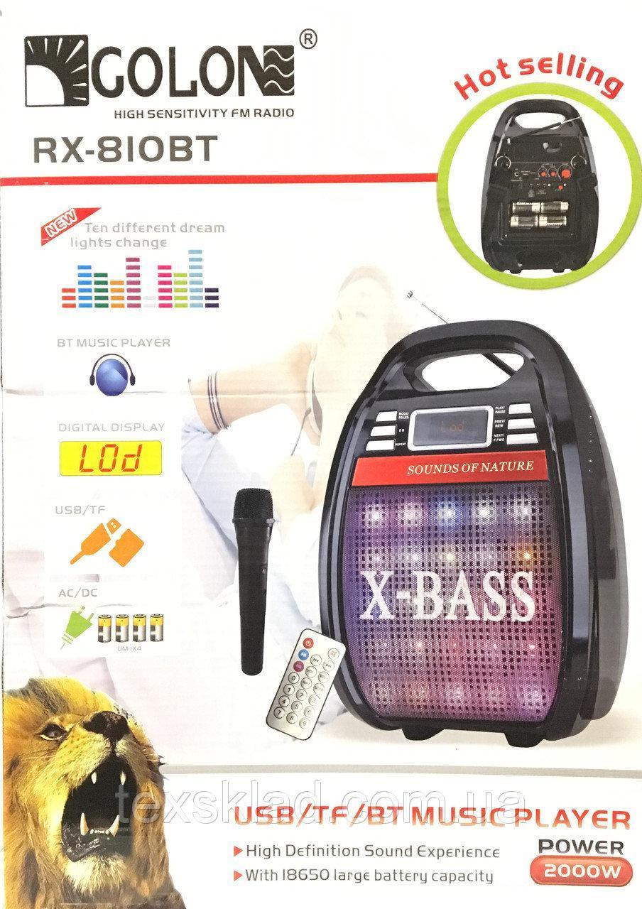 GOLON RX-820 BT Дистанционный пульт, микрофон Bluetooth, портативная акустика, колонка с микрофоном
