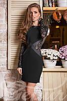 Платье черное с гепюром, фото 1