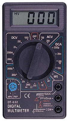 Цифровой тестер DT-832, Электрический мультиметр, амперметр, Тестер вольтметр, Измерение тока, напряжения