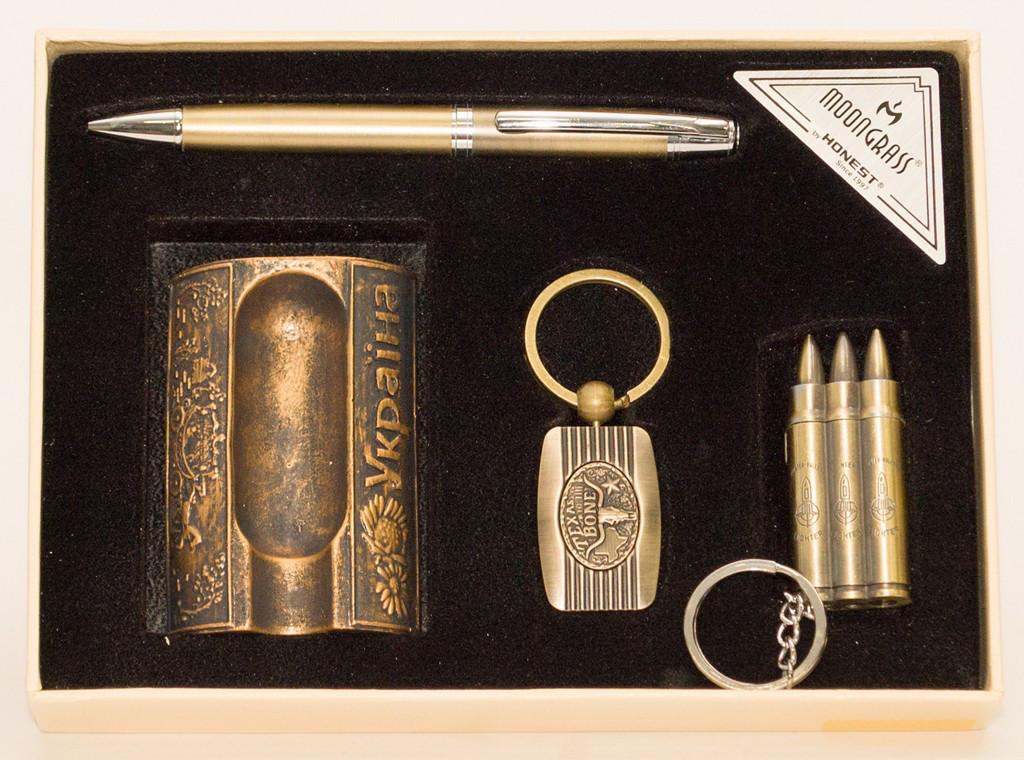 PN4-52 Подарочный набор Moongrass 4в1 -зажигалка/пепельница/брелок/ручка, Cувенир, Подарок