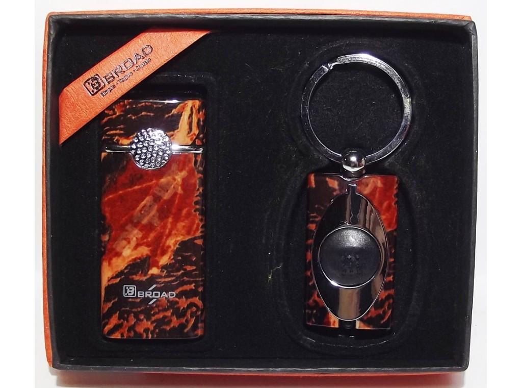 PN3-81 Подарочный набор BROAD: зажигалка + фонарик, Подарочный комплект, Сувенир, Набор с зажигалкой, Брелок