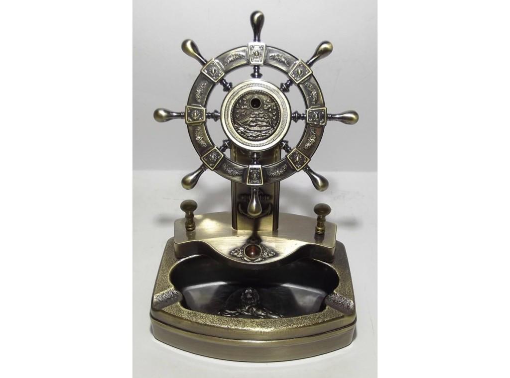 PC5-8 Пепельница - штурвал, Пепельница сувенир, Пепельница морской руль, Деловой подарок