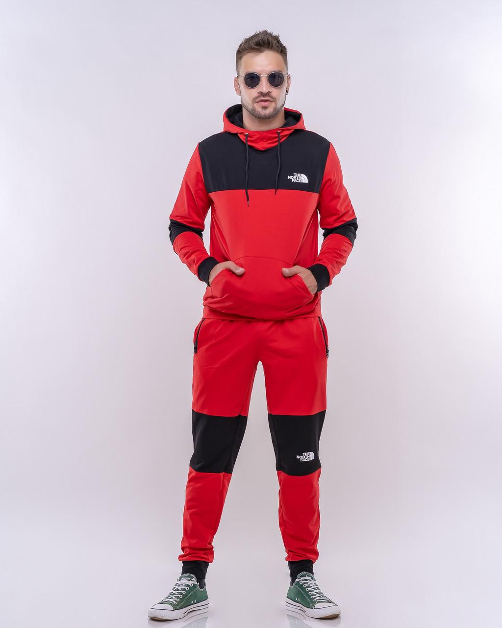 Стильный молодежный мужской спортивный костюм с капюшоном, реплика the north face