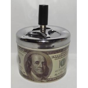 """PC3-11 Пепельница """"100 долларов"""", Настольная пепельница вертушка, Подарочная пепельница, Бездымная пепельница"""