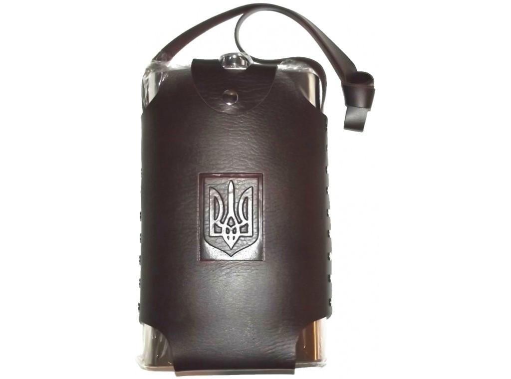 F1-24 Фляга с Украинской символикой, Фляга из нержавеющей стали, Фляга в сумке 2 литра, Фляга для алкоголя