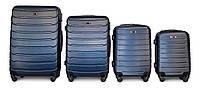 Набор чемоданов 4 штуки в 1 Fly 1107 на 4 колесах Темно-синий, фото 1