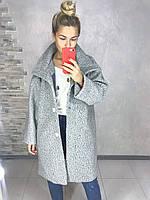 Пальто женское в цветах. Размер 42-46, 48-52