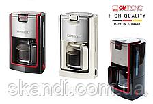 Кофеварка Clatronic(Оригинал)Германия  900 Вт   кремовая/черно красная