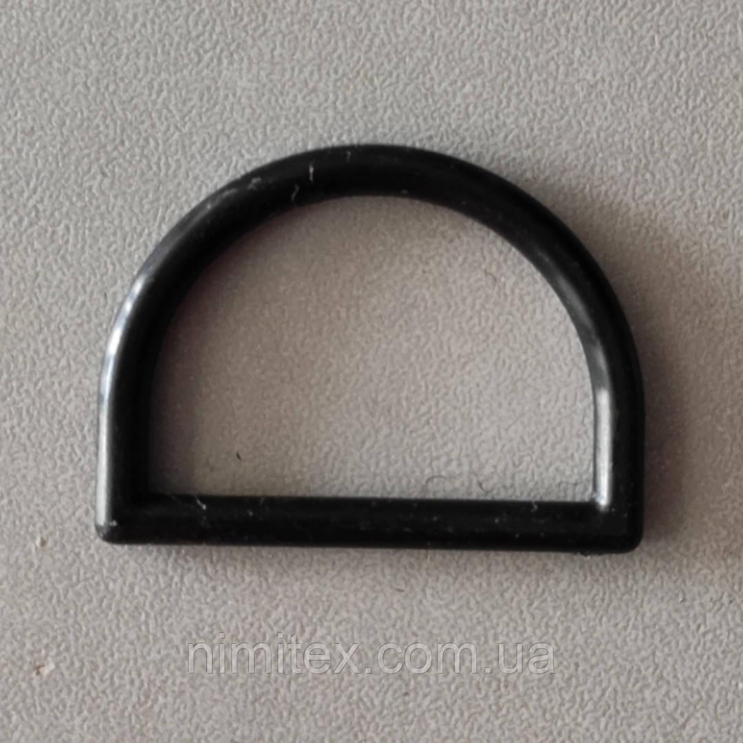 Полукольцо пластиковое 30 мм черное