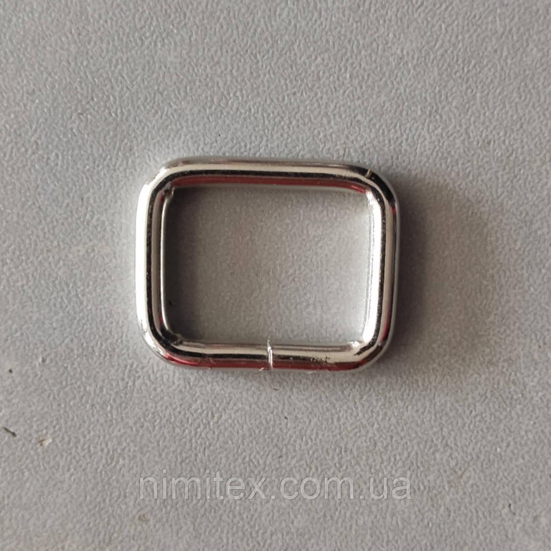 Рамка 21 мм никель