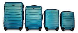 Набор чемоданов 4 штуки в 1 Fly 147 на 4 колесах Синий