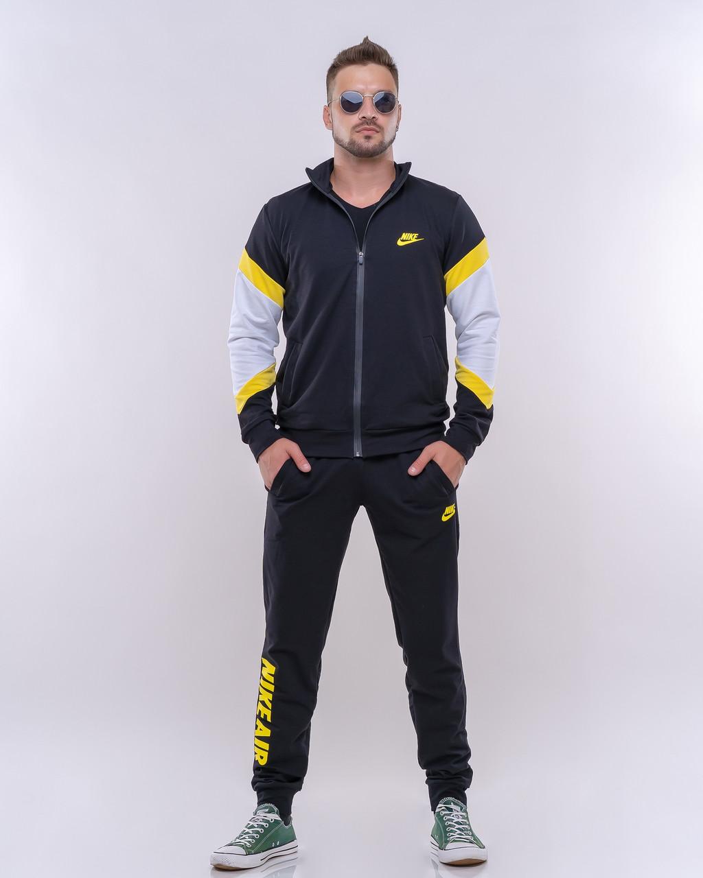 Стильный молодежный мужской спортивный костюм на молнии с капюшоном, реплика Nike
