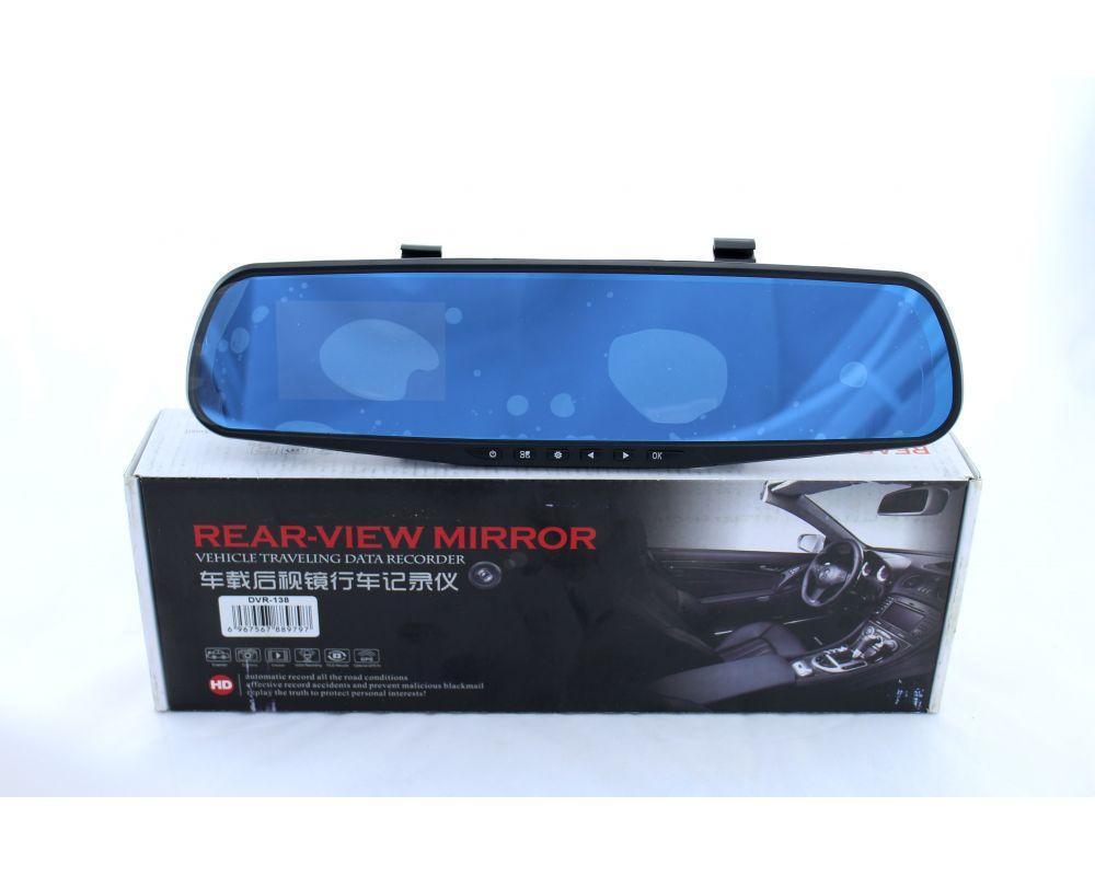Регистратор в авто DVR 138E зеркало без доп. камеры, Видеорегистратор-зеркало, Видеорегистратор автомобильный