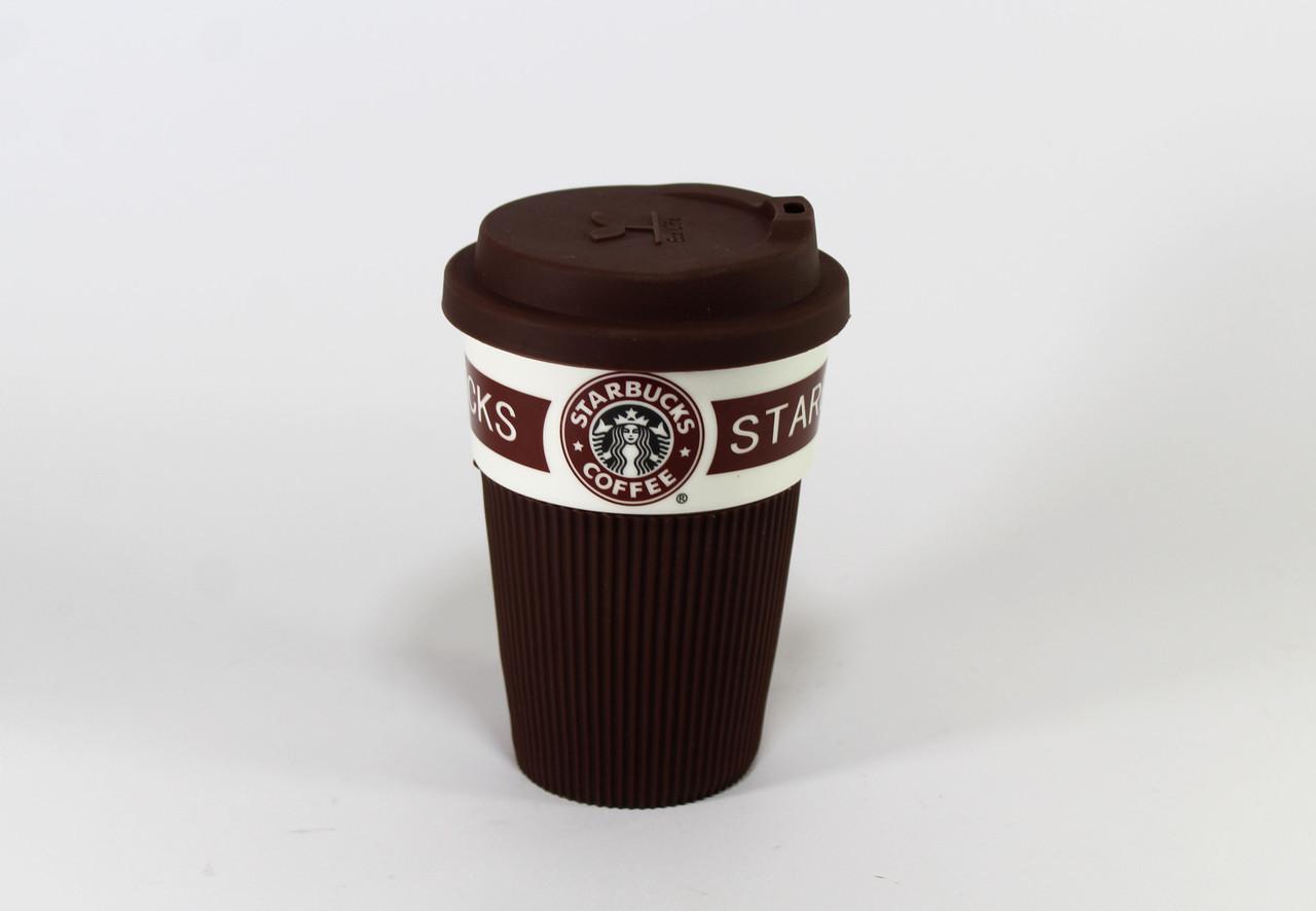 CUP Стакан StarBucks 008, Керамический стакан StarBucks, Крушка керамическая с крышкой, Стакан 350мл керамика