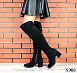 4 цвета! Деми и Зима! Шикарные  ботфорты на каблуке со шнуровкой сзади, фото 4