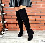 4 цвета! Деми и Зима! Шикарные  ботфорты на каблуке со шнуровкой сзади, фото 6
