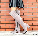 4 цвета! Деми и Зима! Шикарные  ботфорты на каблуке со шнуровкой сзади, фото 9
