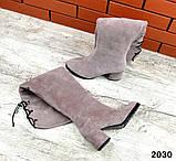 4 цвета! Деми и Зима! Шикарные  ботфорты на каблуке со шнуровкой сзади, фото 10