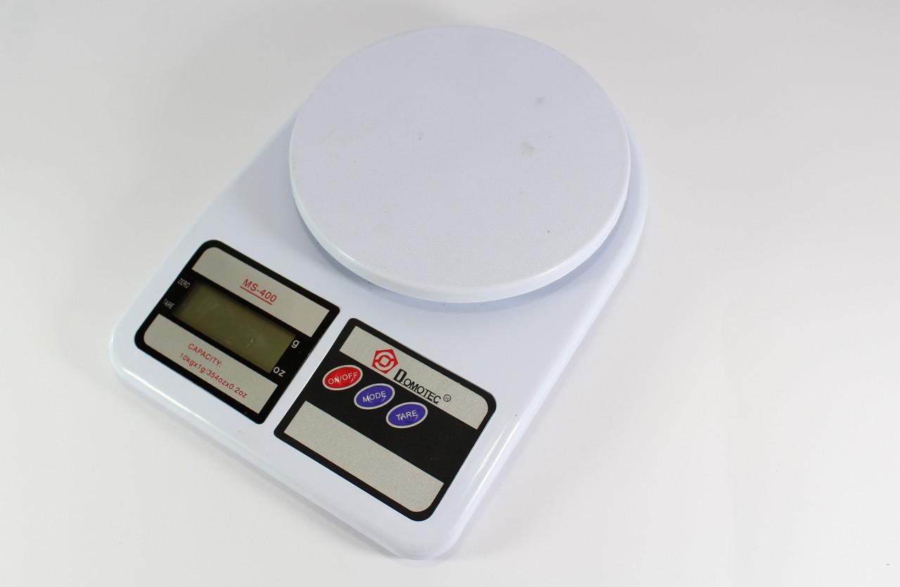 Кухонные Весы ACS MS 400 до 10kg Domotec, Весы на кухню до 10 кг, Электронные весы, Компактные весы кухонные