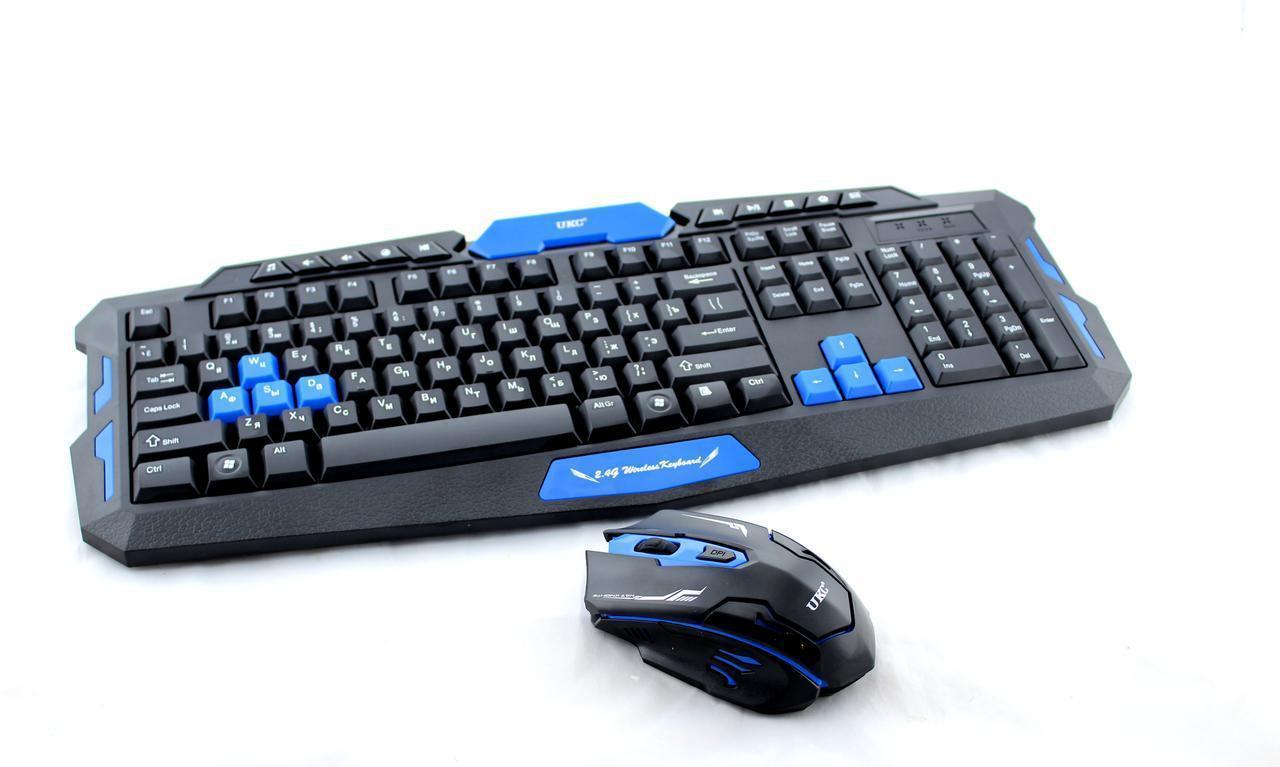 Клавиатура KEYBOARD HK-8100, Игровая клавиатура, Комплект беспроводная клавиатура и мышка