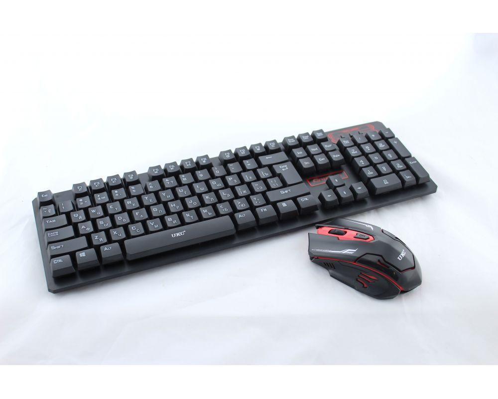 Комплект клавиатура и мышь, Клавиатура KEYBOARD HK-6500, Беспроводная клавиатура + беспроводная мышь