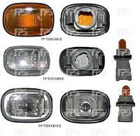Указатель поворота на крыле Toyota Camry V30 '02-06 левый и правый, белый (прозрачный) (DEPO)