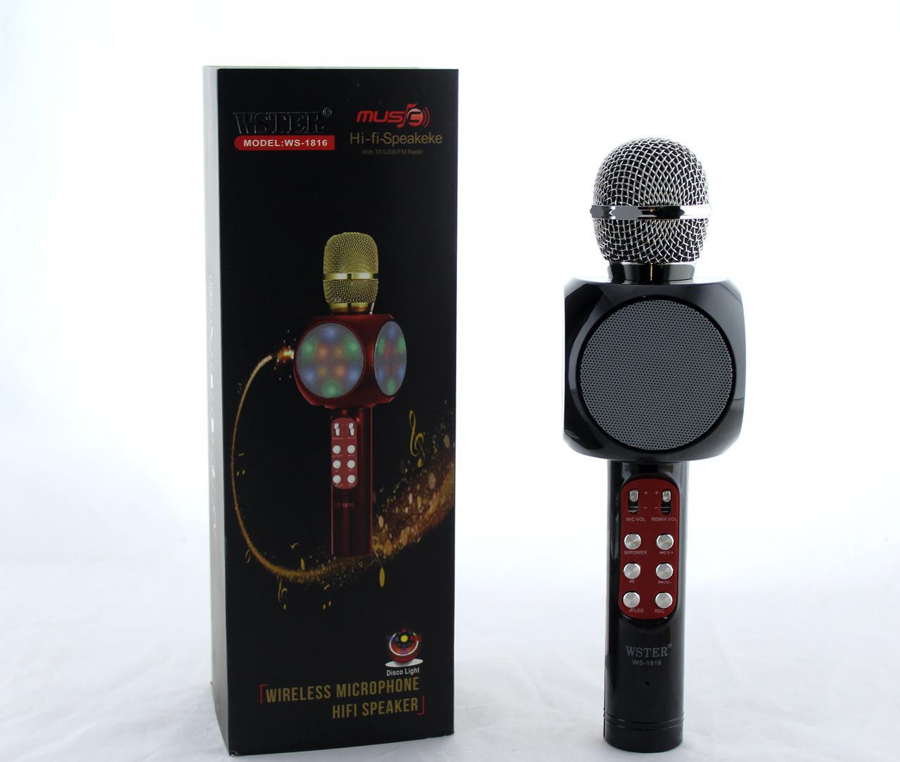 Микрофон  DM Karaoke 1816, Bluetooth микрофон, 2 в 1 - динамик и микрофон, Беспроводной микрофон