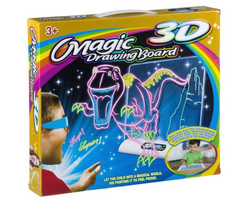Планшет для рисования magic 3D, Светящаяся доска для рисования, 3D доска для рисования, 3D набор для рисования
