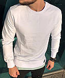 😜 Лонг - чоловічий лонг з підшитий тканиною колір білий, фото 7