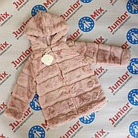 Детские теплые меховые шубки для девочек оптом