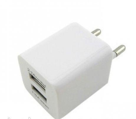 Adapter 2 USB  flat, Адаптер двойной 220В-2USB AC Adapter AR-2100 (2 USB, 2100mA), Универсальное зарядное