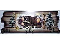Ключница на 6 крючков KC362, Настенная ключница, Ключница  (17Х40 см), Ключница для ключей