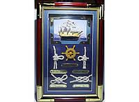 Ключница в морском стиле KC3020C, Настенный шкафчик для ключей, Ключница на 6 крючков, Настенная ключница
