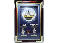 Настенный ящик для ключей KC3020D (30 Х 20см), Ключница в морском стиле, Шкафчик для ключей,Подарочная ключица