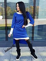 Стильный женский ангоровый костюм 2ка: платье+туника, с 40 по 46рр, 6 цветов