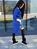 Стильный женский ангоровый костюм 2ка: платье+туника, с 40 по 46рр, 6 цветов 44-46, синее, фото 3