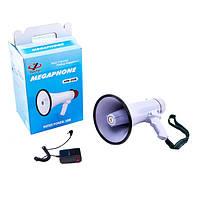Громкоговоритель MEGAPHONE HW 20B, Рупор, Ручной громкоговоритель, Рупор с  выносным микрофоном, фото 1