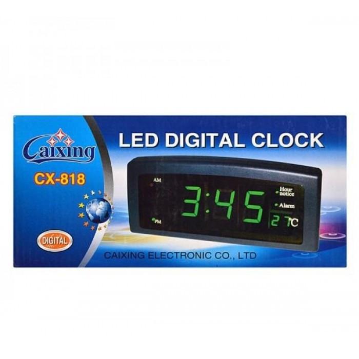 Часы CX 818 green, Электронные часы, Настольные часы с подсветкой, Led часы, Часы с будильником