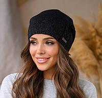 Модная шапка из шерсти с акрилом
