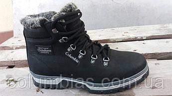 Зимние кожаные ботинки каламбия танк