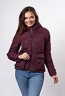 Женская молодежная демисезонная куртка. Код модели К-144-37-19. Цвет бордовый.