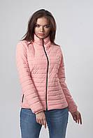 Женская демисезонная куртка. Код модели К-66-37-19. Цвет персик.