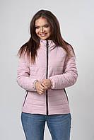 Женская демисезонная куртка. Код модели К-66-37-19 Б. Цвет пудра.