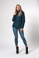 Женская демисезонная куртка. Код модели К-115-37-20. Цвет бутылка.