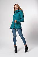 Женская демисезонная куртка. Код модели К-145-37-20. Цвет изумруд.
