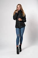 Женская демисезонная куртка. Код модели К-145-37-20. Цвет черный.