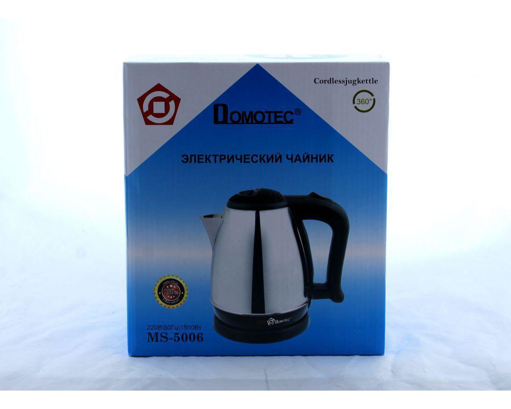 Чайник MS 5006, Чайник из нержавеющей стали, Дисковый электрочайник, Электрический чайник 1,8 литра