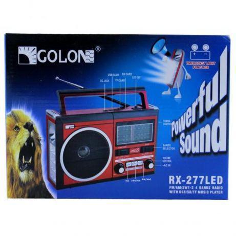 Радио RX 277 LED+LCD, Радиоприемник с Led фонариком, Портативная колонка, Радиоприемник с USB